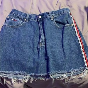 A diy skirt, used to be men's pants. size xl
